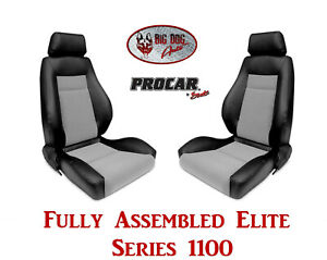 Procar Full Bucket Seats 80 1100 73 Elite 1100 Series For 1989 95 Ford Bronco