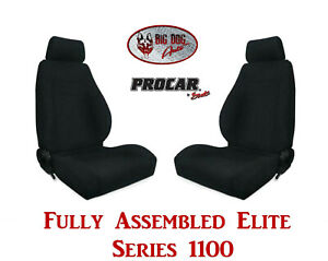 Procar Full Bucket Seats 80 1100 61 Elite 1100 Series For 1989 95 Ford Bronco