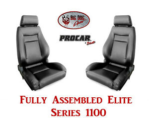 Procar Full Bucket Seats 80 1100 51 Elite 1100 Series For 1989 95 Ford Bronco