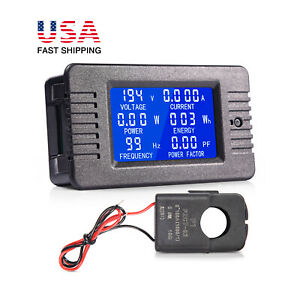 80 260v 100a Lcd Display Ac Volt Meter Amp Multi meter Power Monitor Panel Kit