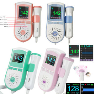 Pocket Colo Fetal Doppler Baby Heart Monitor Backlight Lcd 3mhz Probe With Gel
