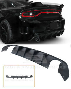 Srt Factory Style Rear Bumper Dual Exhaust Diffuser Fits 15 Up Dodge Charger New