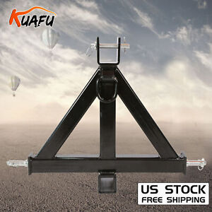 Heavy Duty 3 Point 2 Receiver Trailer Hitch Category 1tractor Tow Drawbar Pull