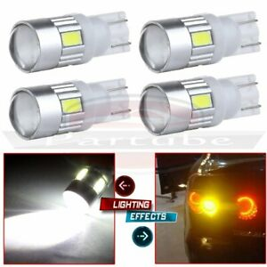 4x White T15 T10 5730 Cree Projector Lens License Plate Light Led Bulbs 194 168