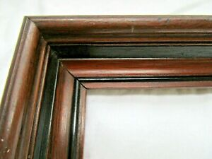 Antique Fits 8 875 X10 875 Walnut Picture Frame Wood Fine Art Country Cabin