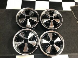 Porsche 911 912 Fuchs Style Wheels With Hearts 5 5x 15 Polished Alloys