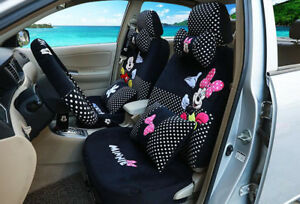 New Plush 1 Sets Luxury Cute Cartoon Mickey Mouse Universal Car Seat Covers 803