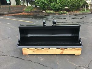 New 48 Heavy Duty Ditch Cleaning Bucket For A Hyundai R35 W Coupler Pins