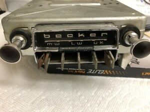 Vintage Becker Europa Lmu 6 12 Volt Radio Mercedes Porsche Others