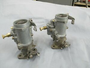 Zenith Stromberg Ex 32 French Carburetors Delage Delahaye Leganda Citron Pair