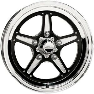 Billet Specialties Brs035406522 Street Lite Black Wheel Size 15 X 4 Rear Sp