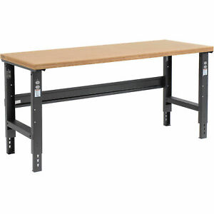 Adjustable Height Workbench C channel Leg 72 w X 36 d 1 1 2 Shop Top Square