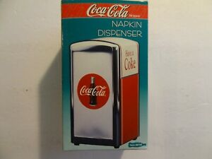 Coca Cola - Napkin Dispenser - Red Chrome - NEW