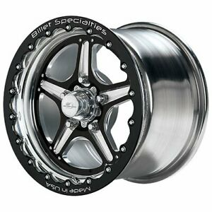 Billet Specialties Brsb35126565 Street Lite Single Beadlock Black Wheel Size 15
