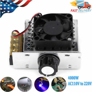 4000w Ac110v To 220v Scr Voltage Regulator Motor Speed Control With Fan Us