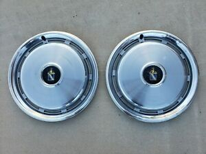 Vintage 1975 1977 Buick Regal Hubcap Wheelcover Center Cap Pair Free Shipping