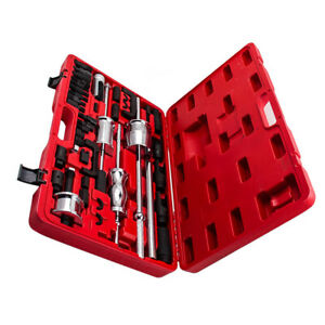 Auto Truck Diesel Injector Extractor Slide Hammer Tool Kit Pulling Adapter