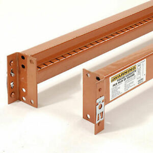 Notched Pallet Rack Beam 48 lx3 5 16 h 6590 Lb Cap pr 2 Pcs