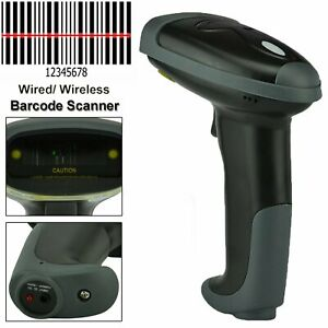 Wireless Bluetooth 2 4g Barcode Scanner Handheld Usb Rechargeable Receiver Laser