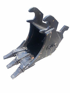 New 12 Excavator Bucket For A John Deere 27 Zts With Zts Coupler