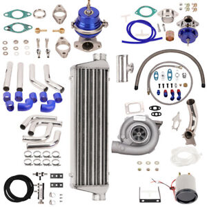 T3 T4 T04e Universal Turbo Stage Iii wastegate turbo Intercooler piping 10pc Kit