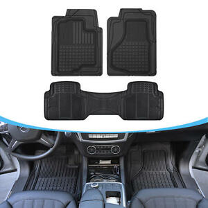 Auto Floor Mats For Suv Car All Weather Hd Rubber Odorless Front Rear Set