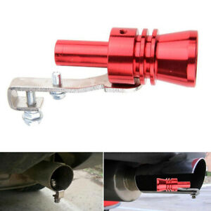 Car Turbo Sound Whistle Muffler Exhaust Pipe Red Auto Blow Off Valve Simulator