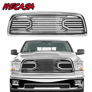 Big Horn Chrome Packaged Grille Replacement Shell For 09 12 Dodge Ram 1500