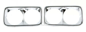 Lh Rh 1967 1972 Gmc Truck Chrome Headlight Bezel Set