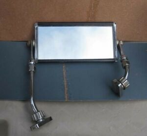 Truck Side Mirror Vintage Double Connection Very Nice Chrome Mirror