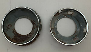 Vtg 74 Oem Vw Super Beetle Hella Ring Bucket Headlight Retainer Assemble Parts