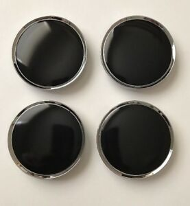 4 Pcs Chrome Black Wheel Center Caps 63mm 2 1 2 Can Fit Dodge