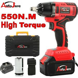 4900in Lbs Electric Cordless Impact Wrench Rattle Gun Power Tool Battery