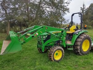 John Deere 4066r 66hp Compact Utility Tractor W Front Loader And Rotary Cutter