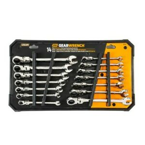 Gearwrench Flex Head Ratcheting Wrench Set 14pc 85141 Free Shipping