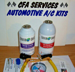 1995 Older Refrigerant For R12 Systems With Stop Leak Oil 2 Can Recharge Kit