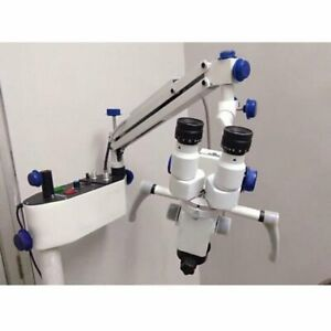 3 Step Portable Surgical Ent Operating Microscope For Clinic Led Illumination