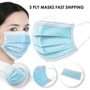 3 ply Disposable Safety Masks Packs Of 5 500 Fast Shipping From Usa