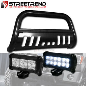 Black Bull Bar Grille Guard 36w Cree Led Driving Lights For 11 18 Ford Explorer