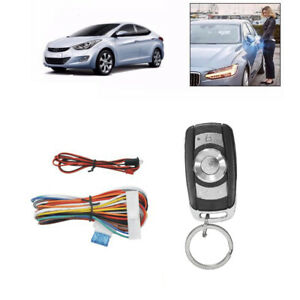 Car Remote Control Central Kit Door Lock Locking Keyless Entry System Lip Black