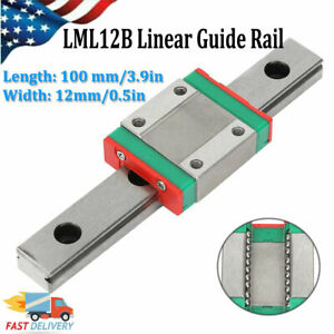 Lml12b Miniature Linear Slide Rail Guide 12mm Sliding Block Diy Cnc 3d Printer