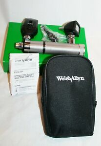 Welch Allyn Otoscope Opthalmoscope Diagnostic Set 3 5v Handle