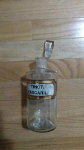 Apothecary Bottle With Ground Glass Stopper
