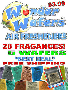 Wonder Wafers Air Freshener Sample 5 Pieces Air Freshener New Leather Nu Car