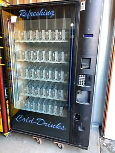 Dixie Narco Cold Drink Vending Machine 5800 4 Side Messed Up