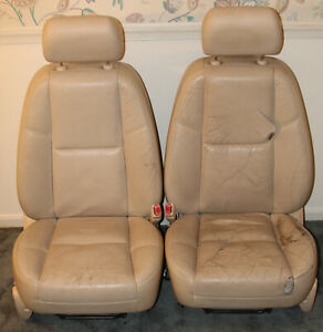 2007 2008 Escalade Front Seats Tan Cashmere Leather Pair Htd And Cooled Kb6