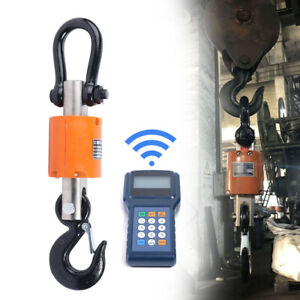 3t Wireless Digital Electronic Crane Scale Industrial Hanging Scale 6600 Lbs