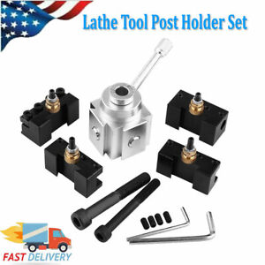 Quick Change Tool Mini Post Set Holder Lathe Turning Bar Holder Boring Usa