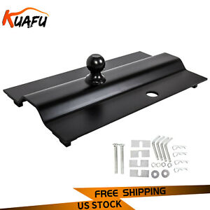 31368 Multi fit In bed Fixed Offset Ball 25k Gooseneck Hitch 5th Wheel Rail