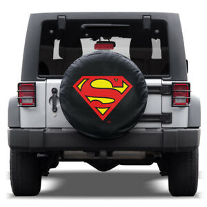 Superman Waterproof Spare Tire Cover For Jeeps Easy Install 30 33 Tire